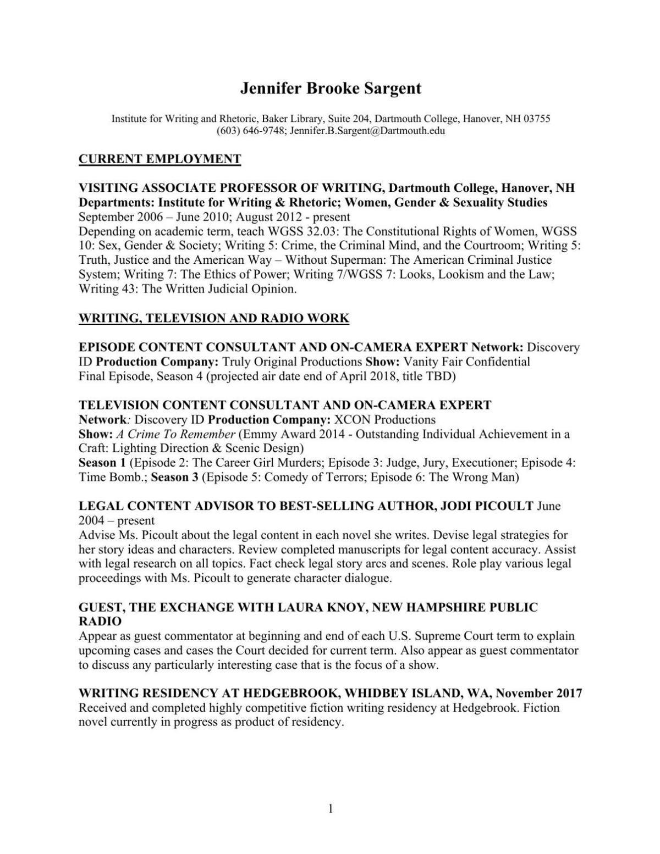 Sargent resume