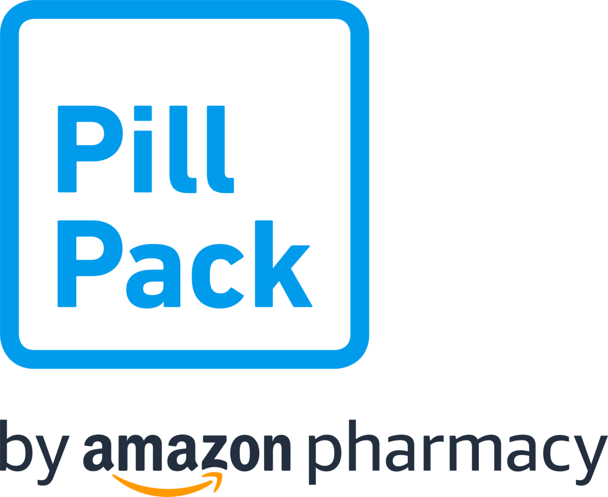 New PillPack logo with 'by Amazon Pharmacy'