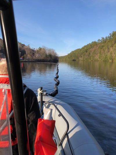 Heating oil from leaking boiler flows into Connecticut River