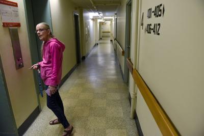 Debbie Dlutowski in hallway