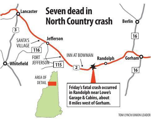 Seven dead in North Country crash
