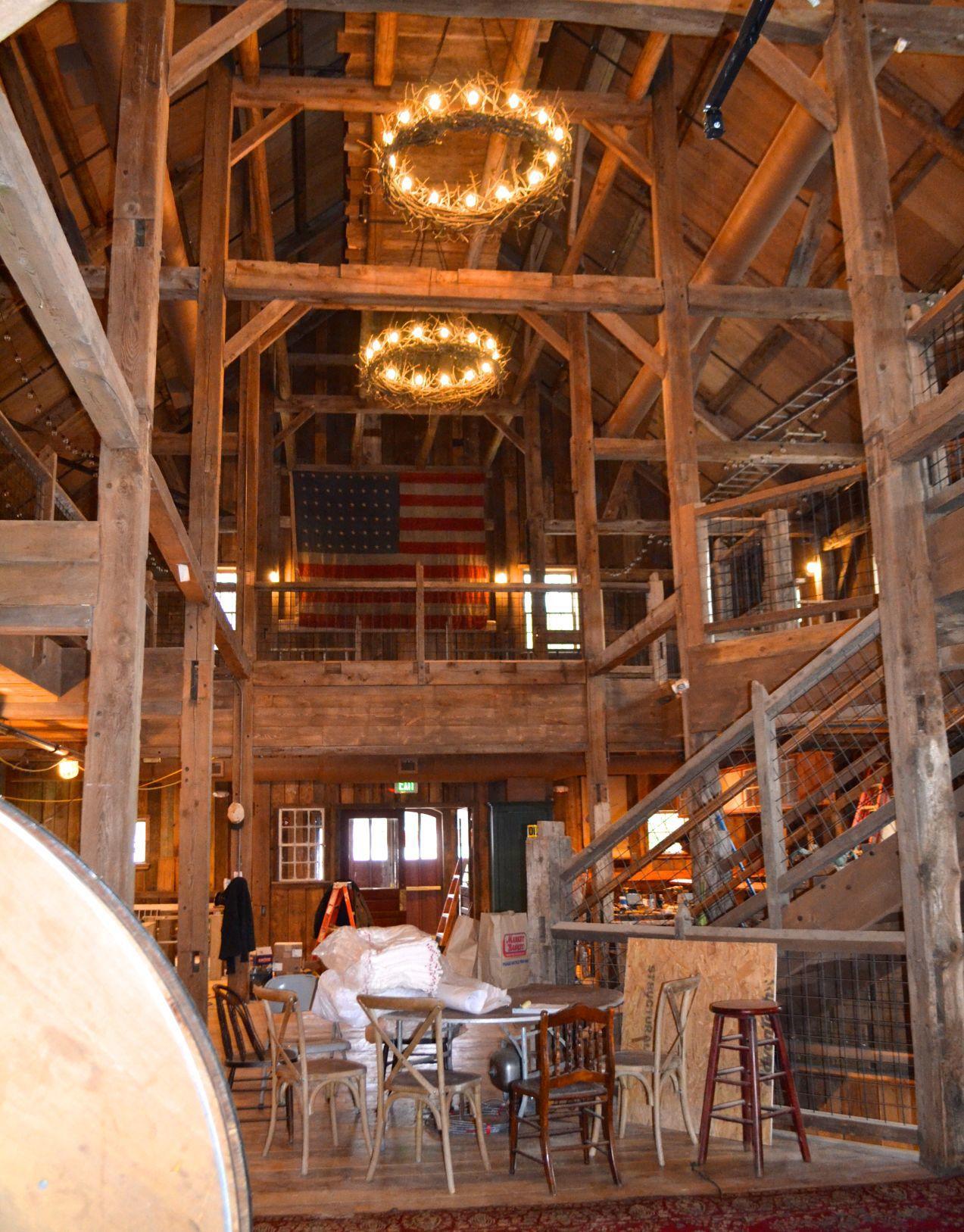 The barn under reconstruction