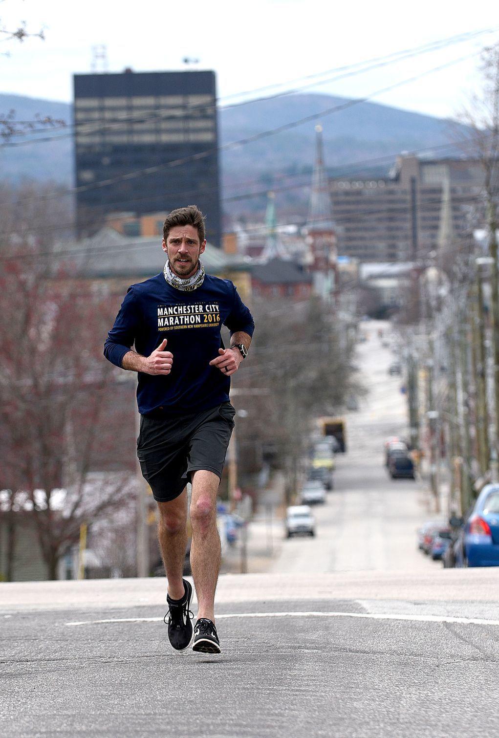 Vertical city matters runner Timm Huffman