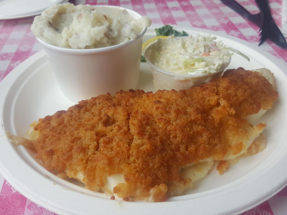 Baked haddock at Newick's
