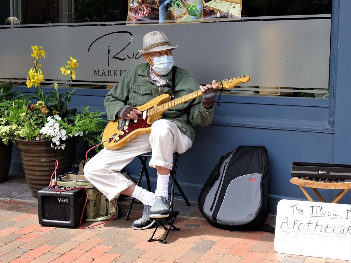 Masked guitarist in Portsmouth
