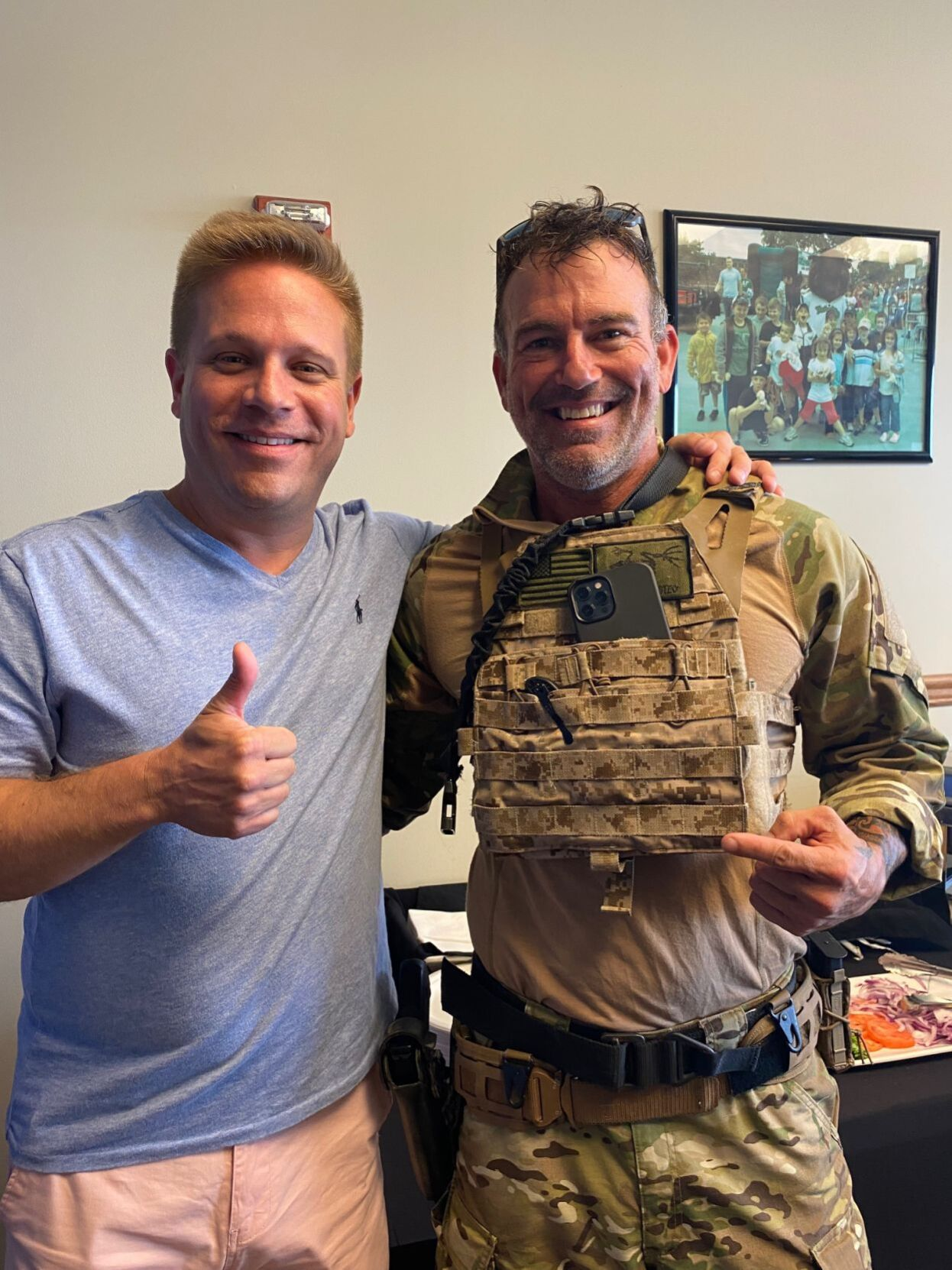 Chris Thompson with U.S. Navy SEAL Mike Donnelly