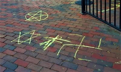 Swastika discovered on sidewalk in Portsmouth