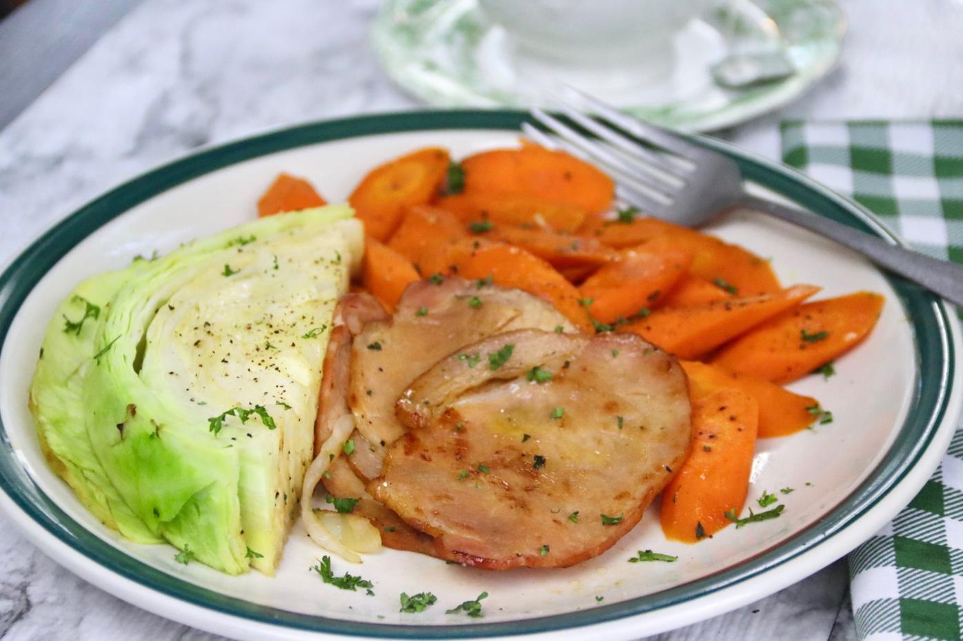 Irish Bacon, Cabbage and Carrots