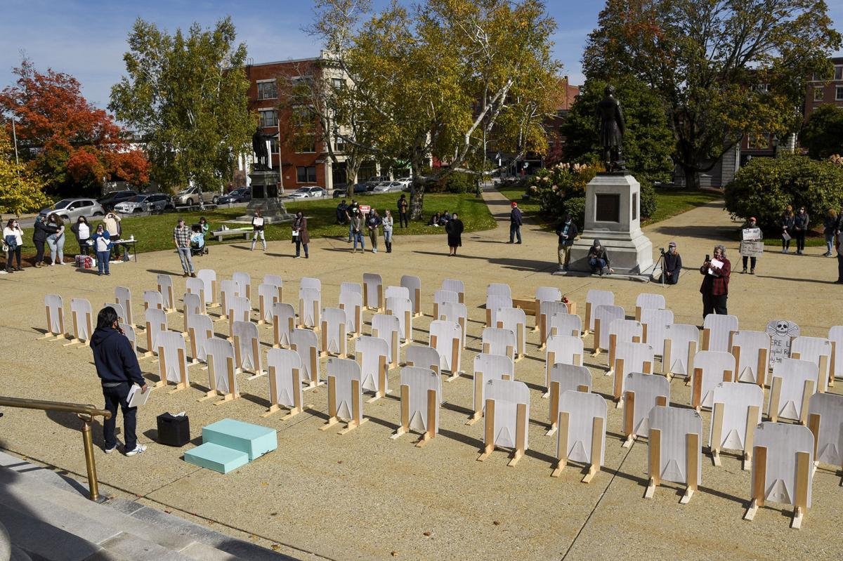 """Veto Graveyard"" rally at State House"