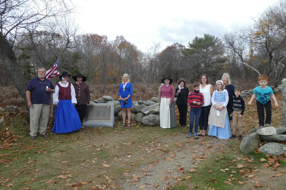 Mayflower Society dedication at Odiorne Point