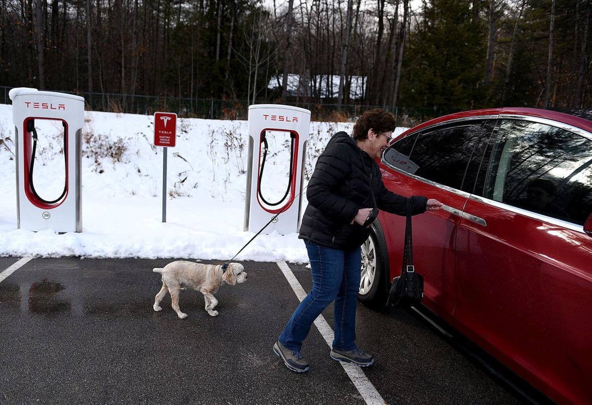 Charging a car in Hooksett
