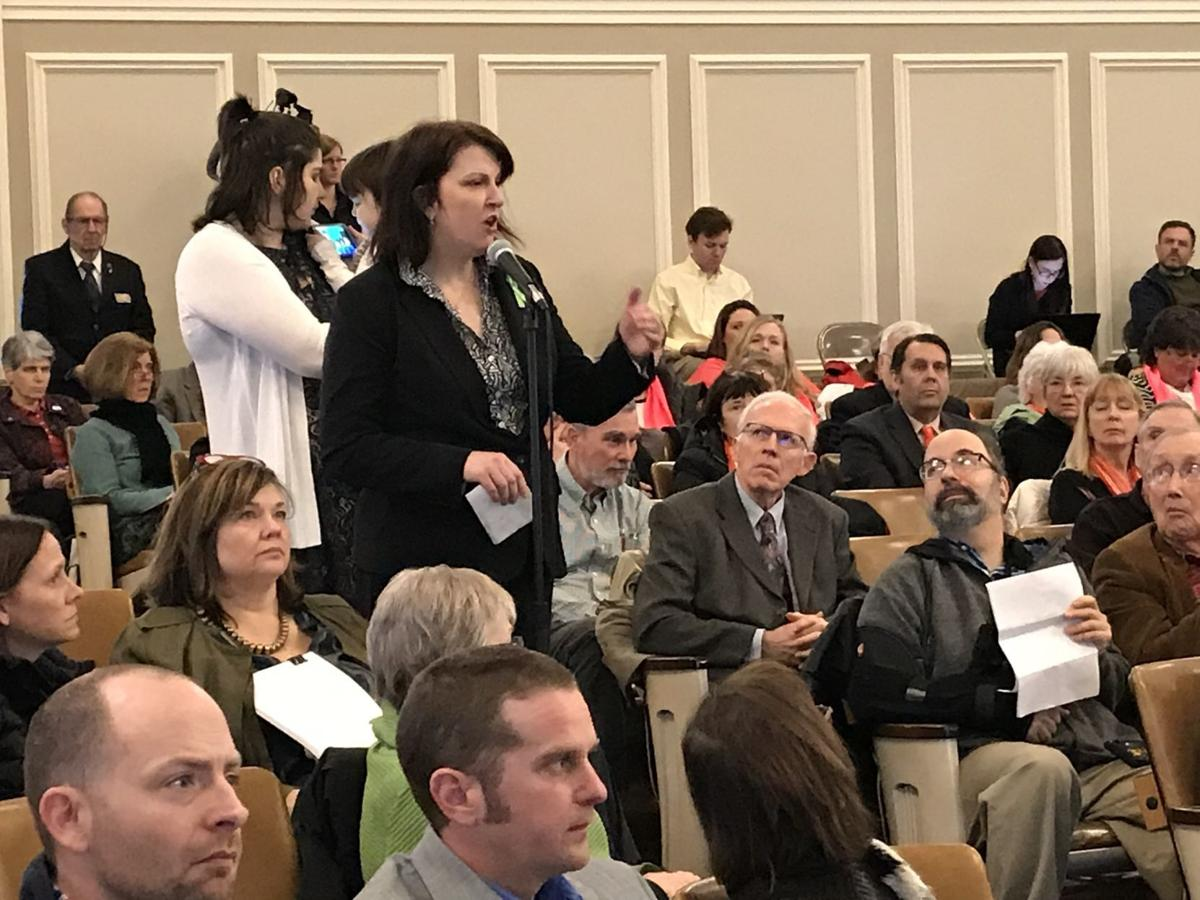 Darlene Gildersleeve of Hopkinton testifies at state budget hearing