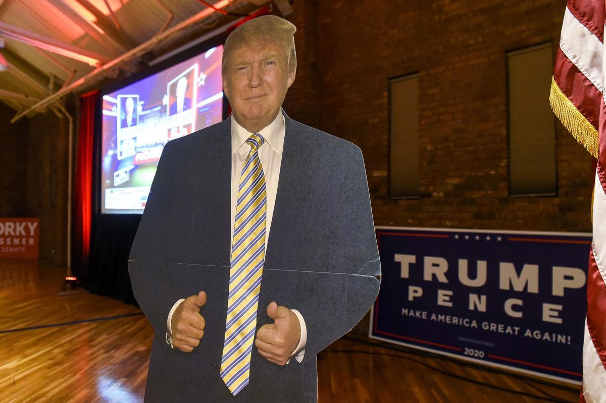 Cardboard Donald Trump