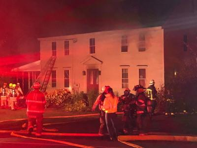 Family escapes two-alarm blaze in 18th century Brentwood home