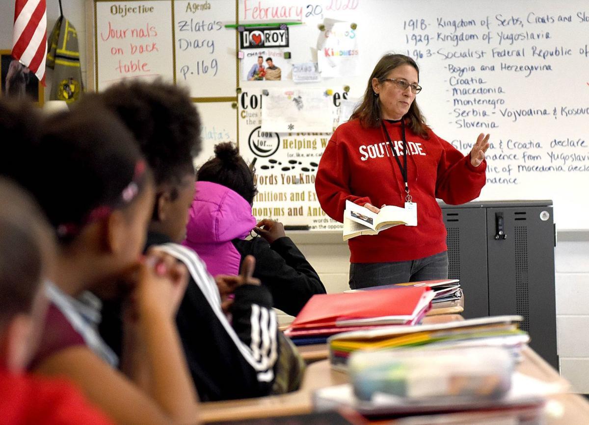 Michele Wood teaches class