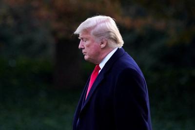 President Trump departs the White House in Washington