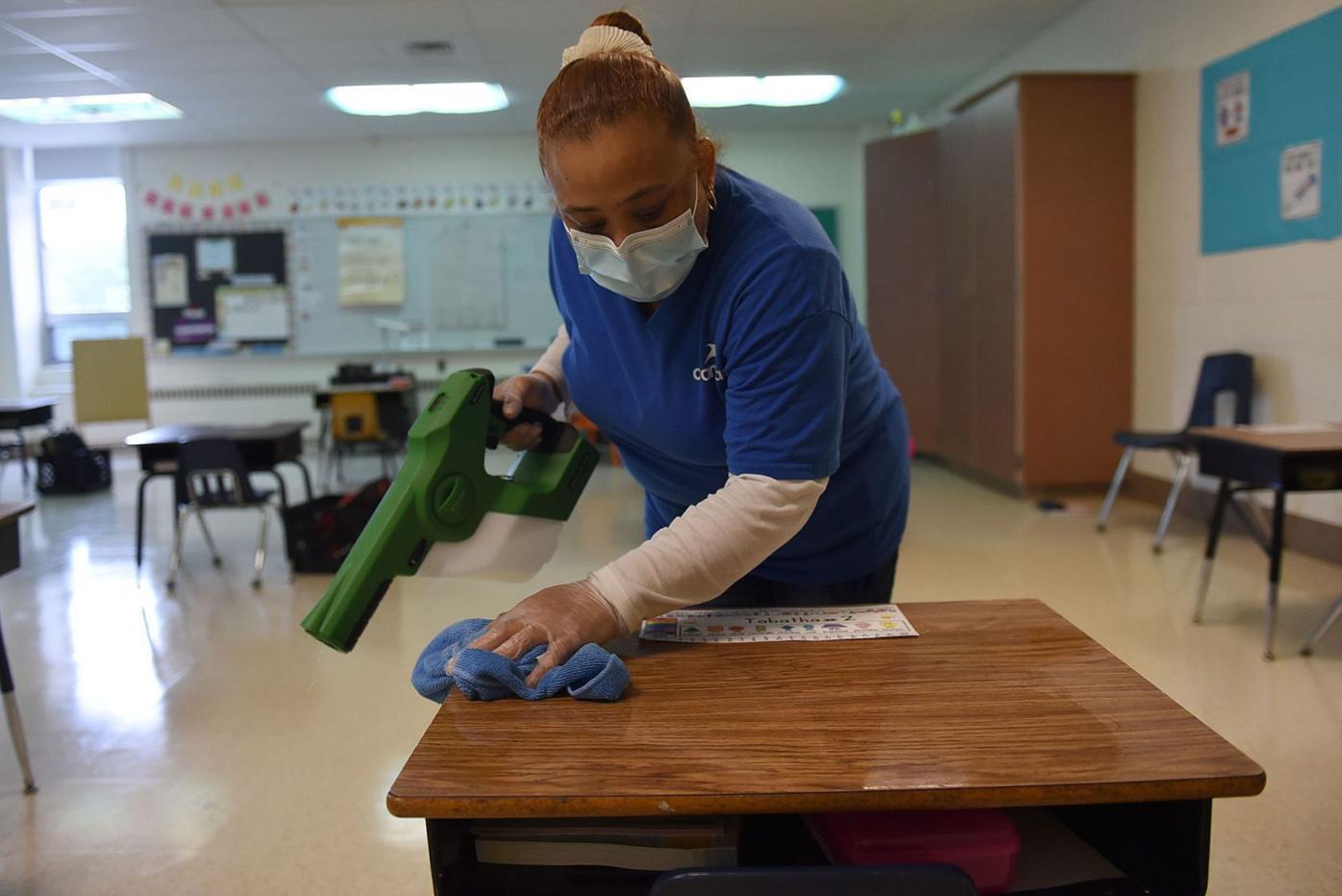 Disinfecting desks