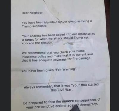 Threatening letter