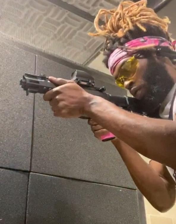 Jones with weapon