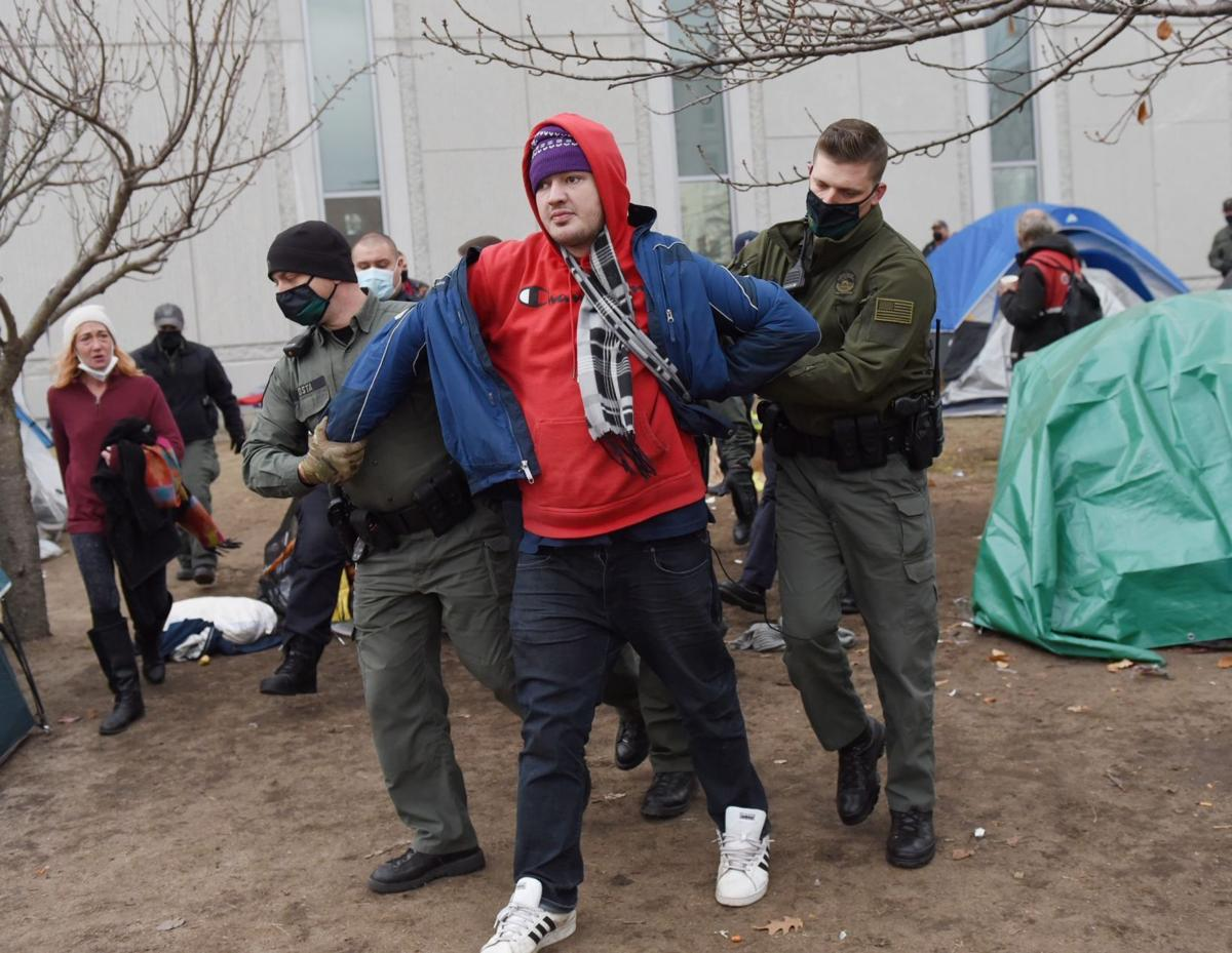Campers clear courthouse under orders from state police