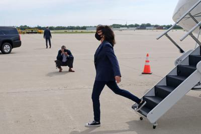 Democratic U.S. vice presidential nominee Senator Kamala Harris visits Milwaukee
