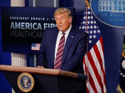 U.S. President Trump speaks about prescription drug prices at the White House in Washington
