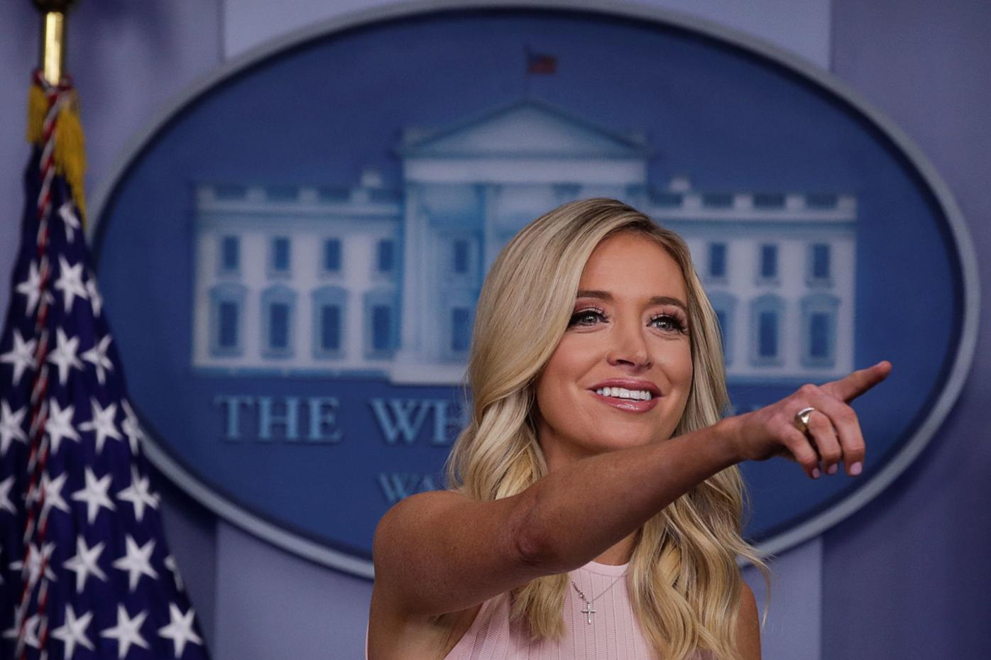 White House Press Secretary McEnany holds daily briefing at the White House in Washington