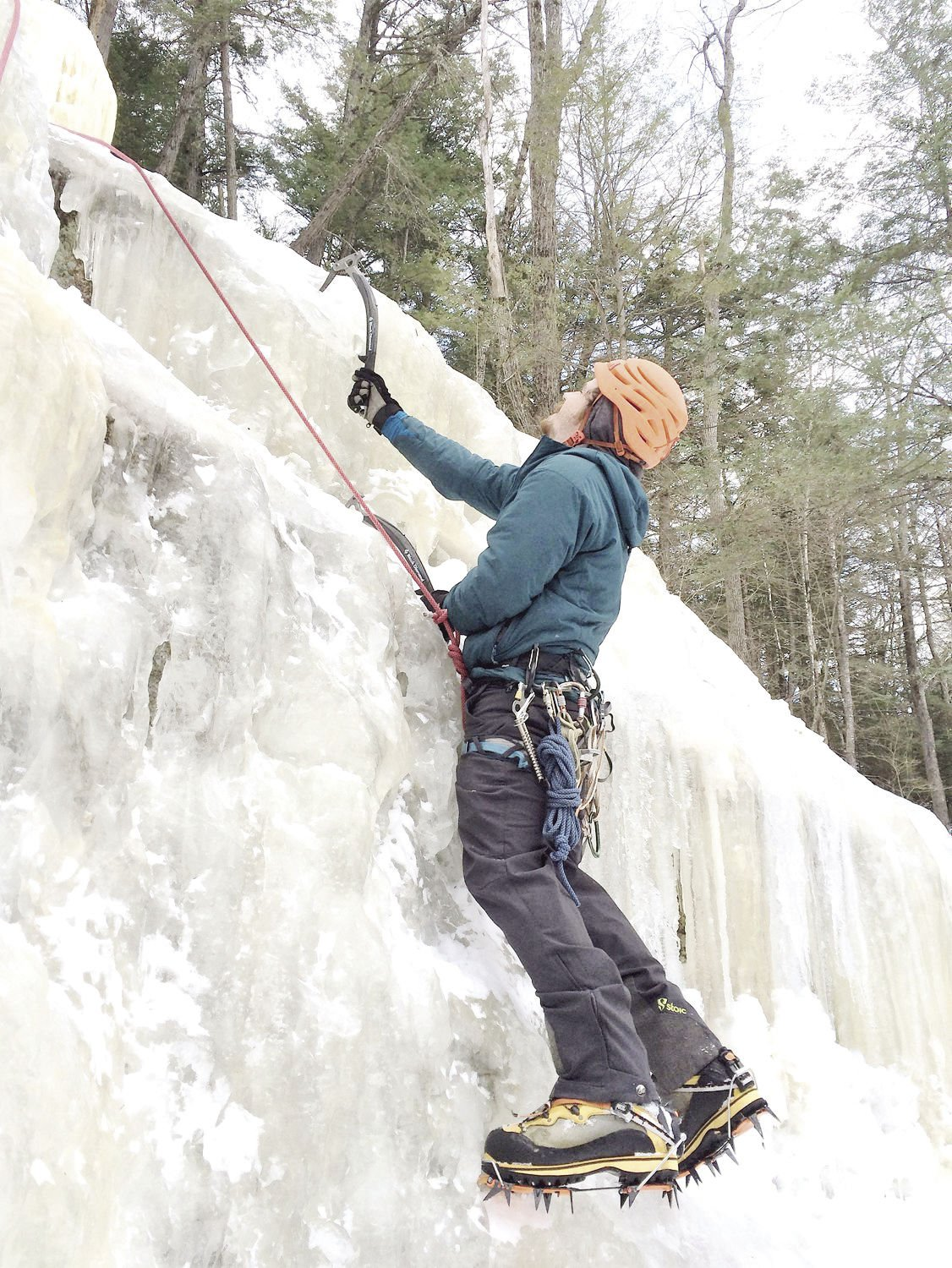 Winter Notes: Learning the ropes (and picks and crampons) of ice climbing in the Mount Washington Valley