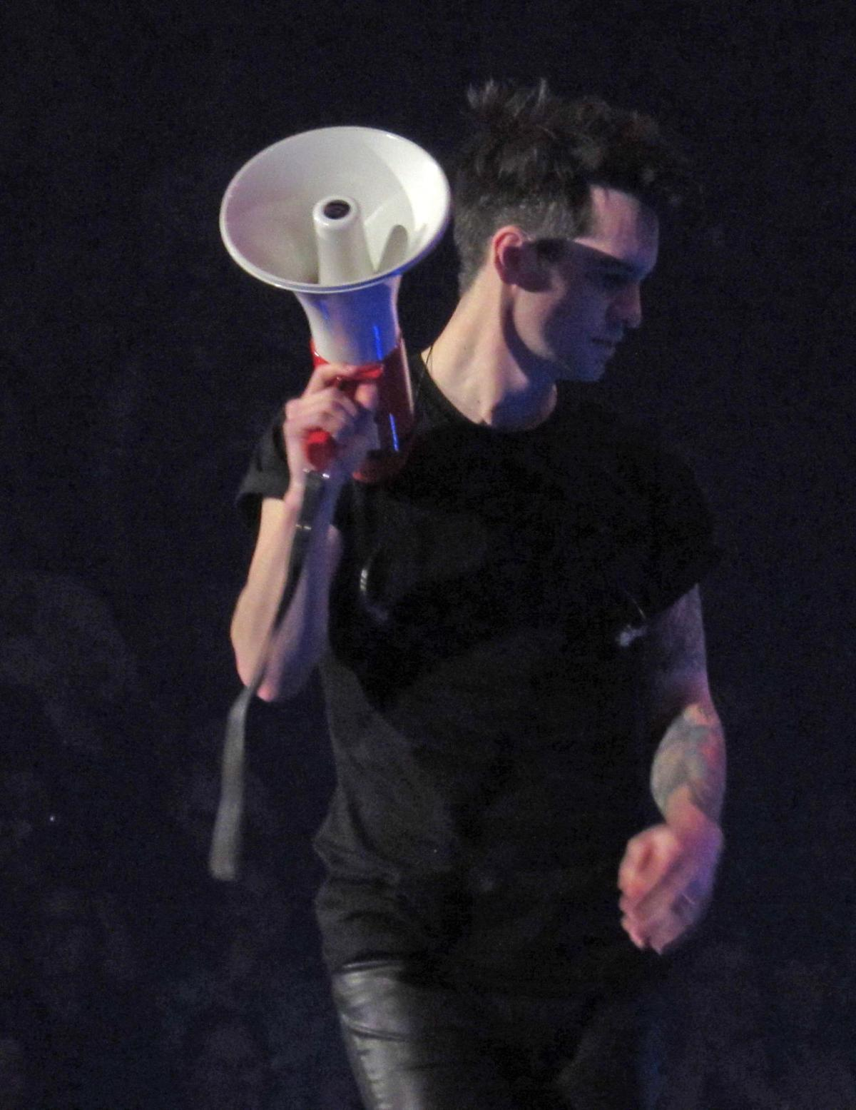 Brendon Urie resorts to bullhorn after sound cuts out at concert