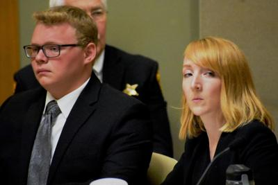 Parker Hogan with attorney Charlotte Robinson