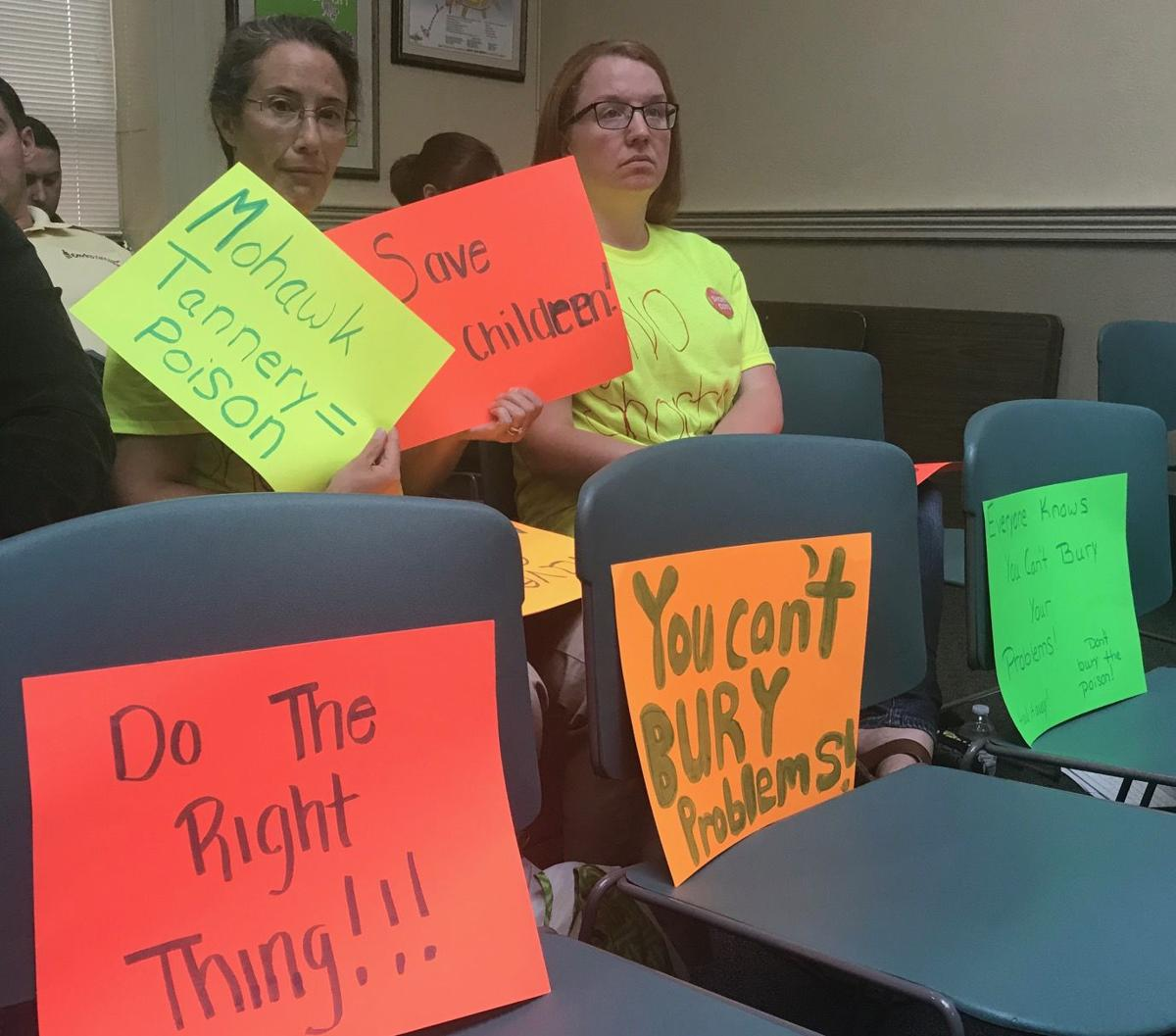 Environmental activists, neighbors call for permanent cleanup of Mohawk Tannery site