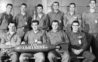 Members of the 133rd Fighter Group armament team Grenier AFB 1950 Source NHANG