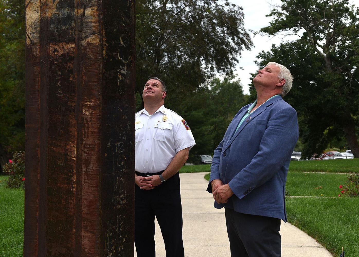 Gazing at Hudson memorial