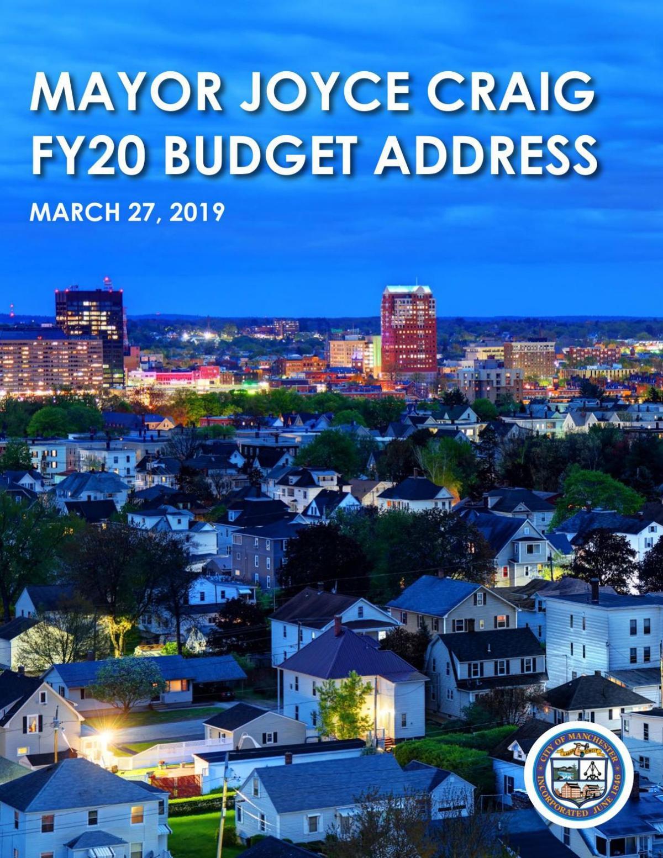 FY2020 Budget Address