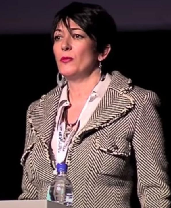 Ghislaine Maxwell speaks at the Arctic Circle Forum in Reykjavik