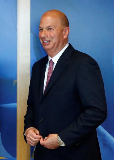 U.S. Ambassador to the EU Gordon Sondland poses at the EU Commission headquarters in Brussels
