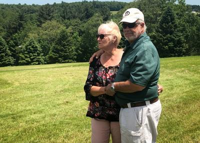 Nick and Bobbi Ercoline pose together in Bethel, N.Y.
