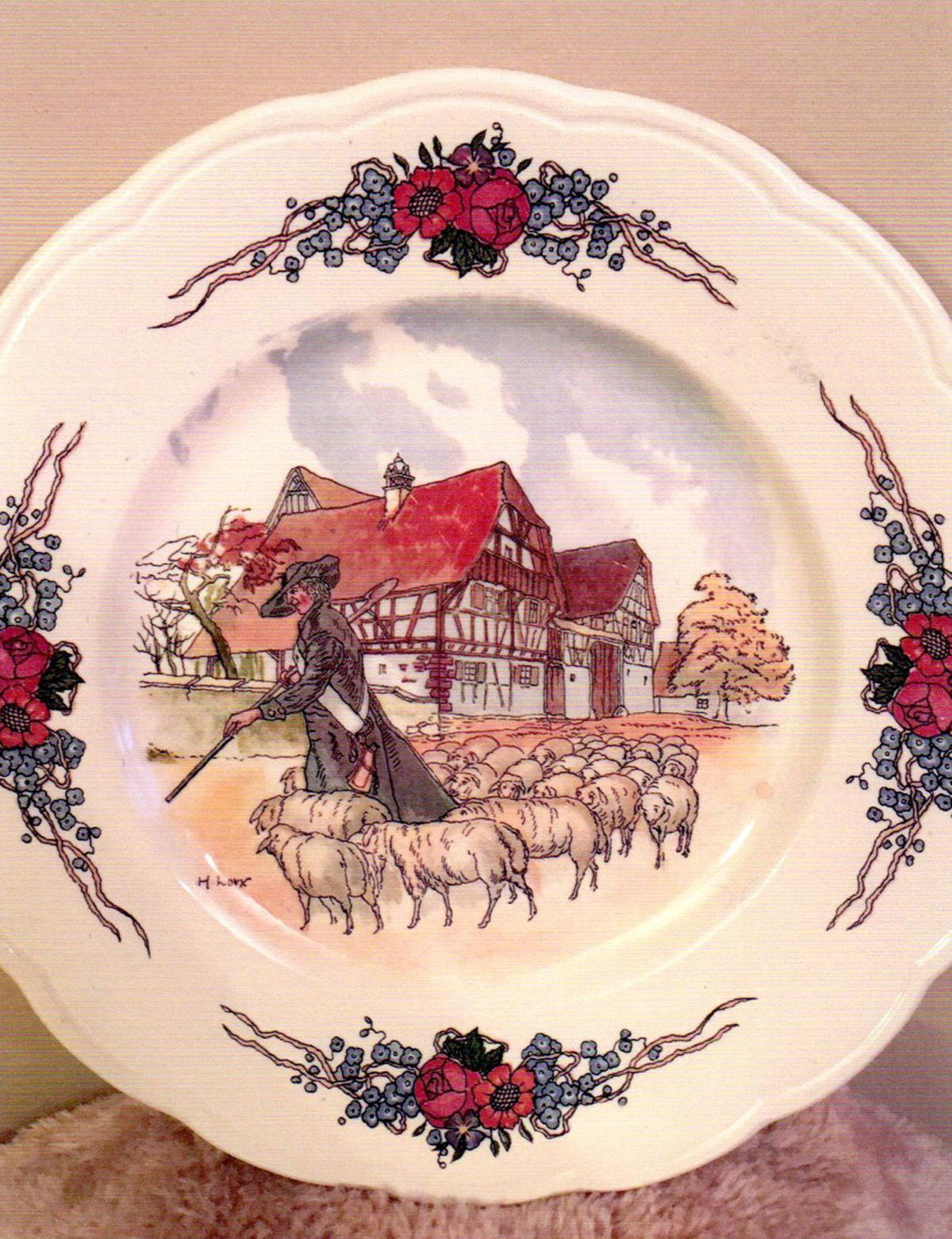 Treasures in Your Attic: Plates have an Obernai pattern, one of a French company's most popular