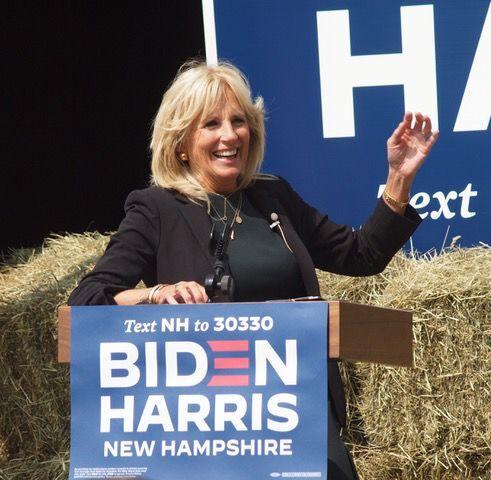 Jill Biden speaks in Bedford
