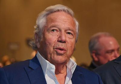 FILE PHOTO: New England Patriots owner Robert Kraft speaks at a press conference in advance of Super Bowl LIII in Atlanta