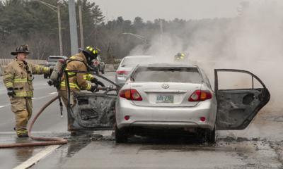 MFD Respond To Car Fire