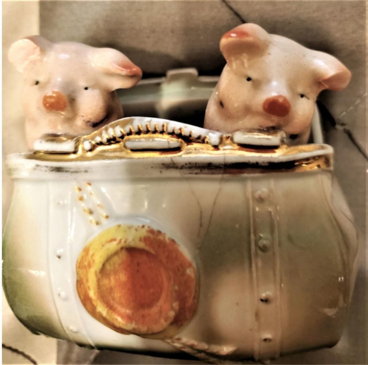 Porcelain pink pigs are cute but common