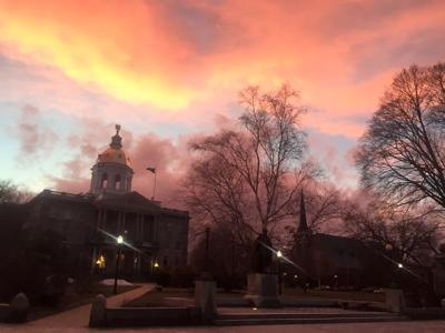 State House at dawn