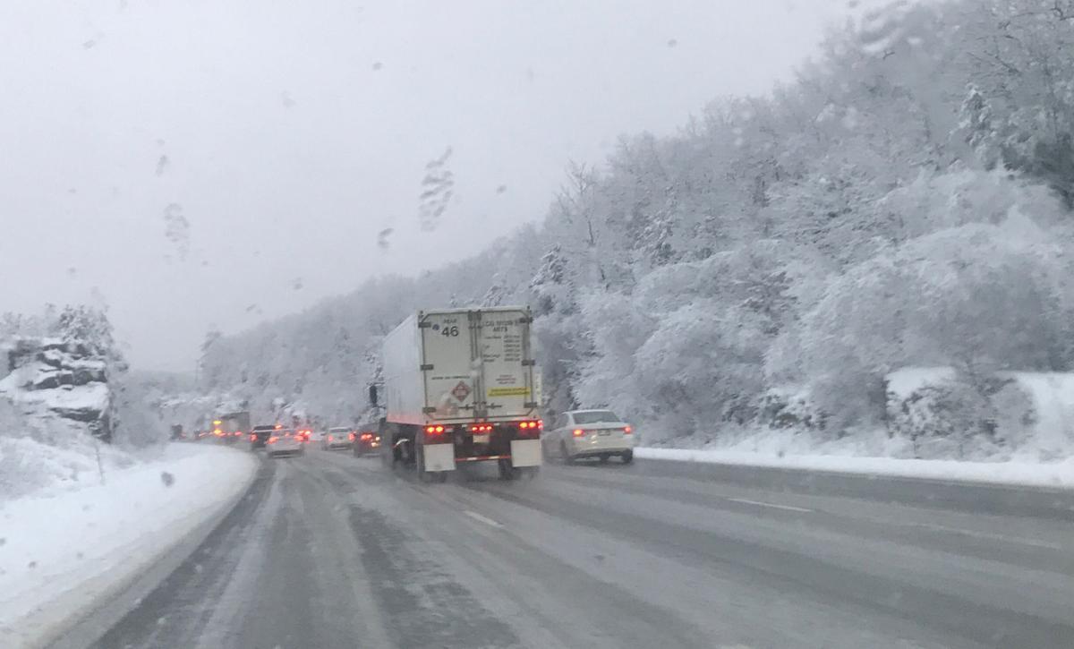 Snowy interstate