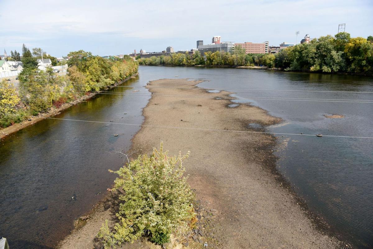 Merrimack River trash