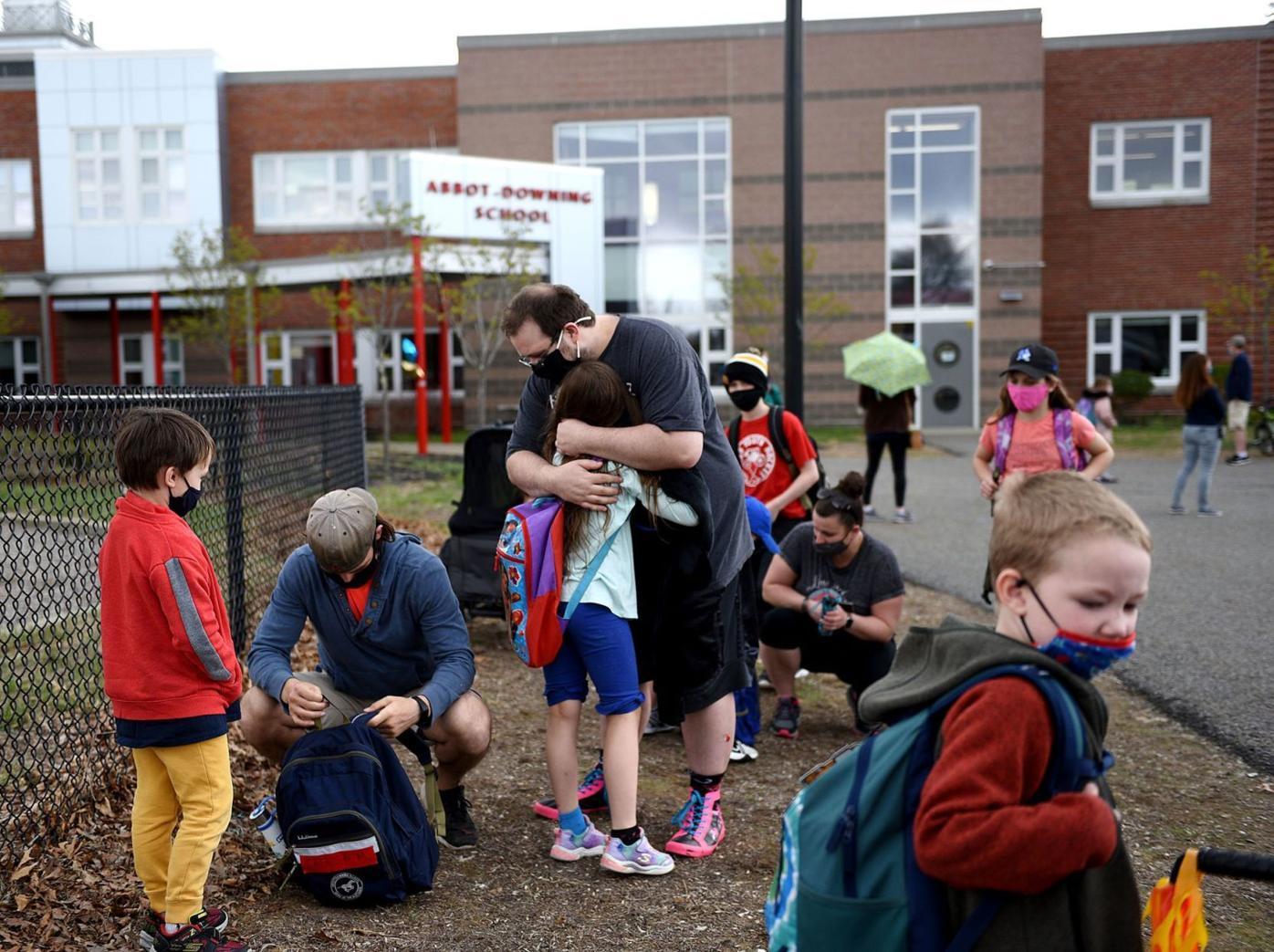 Hugs at Abbot-Downing School