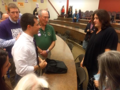 Buttigieg faces gender identity question at SEA town hall forum