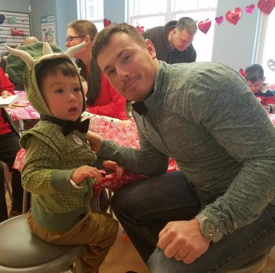 It's a dino-inspired Valentine's Day at children's museum