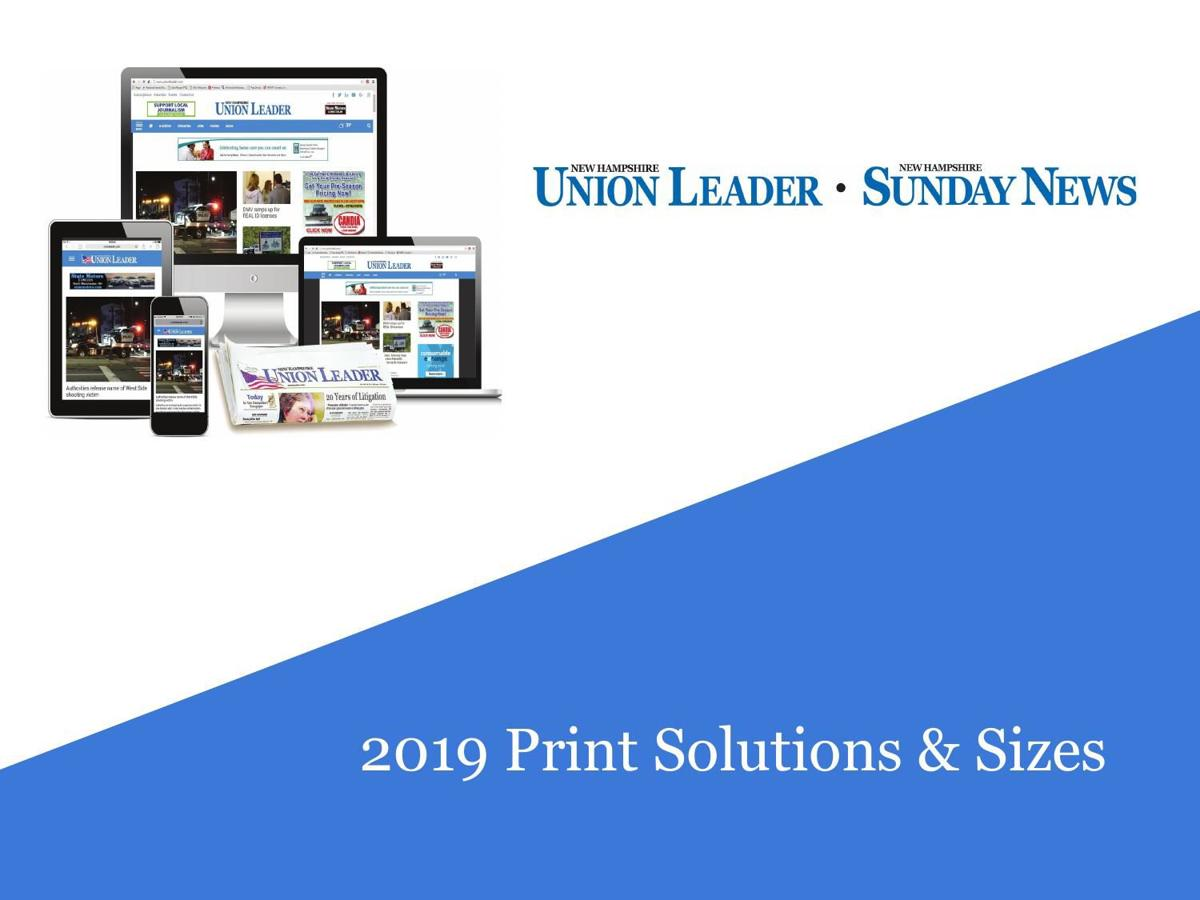 2019 Print Advertising Solutions and Sizes