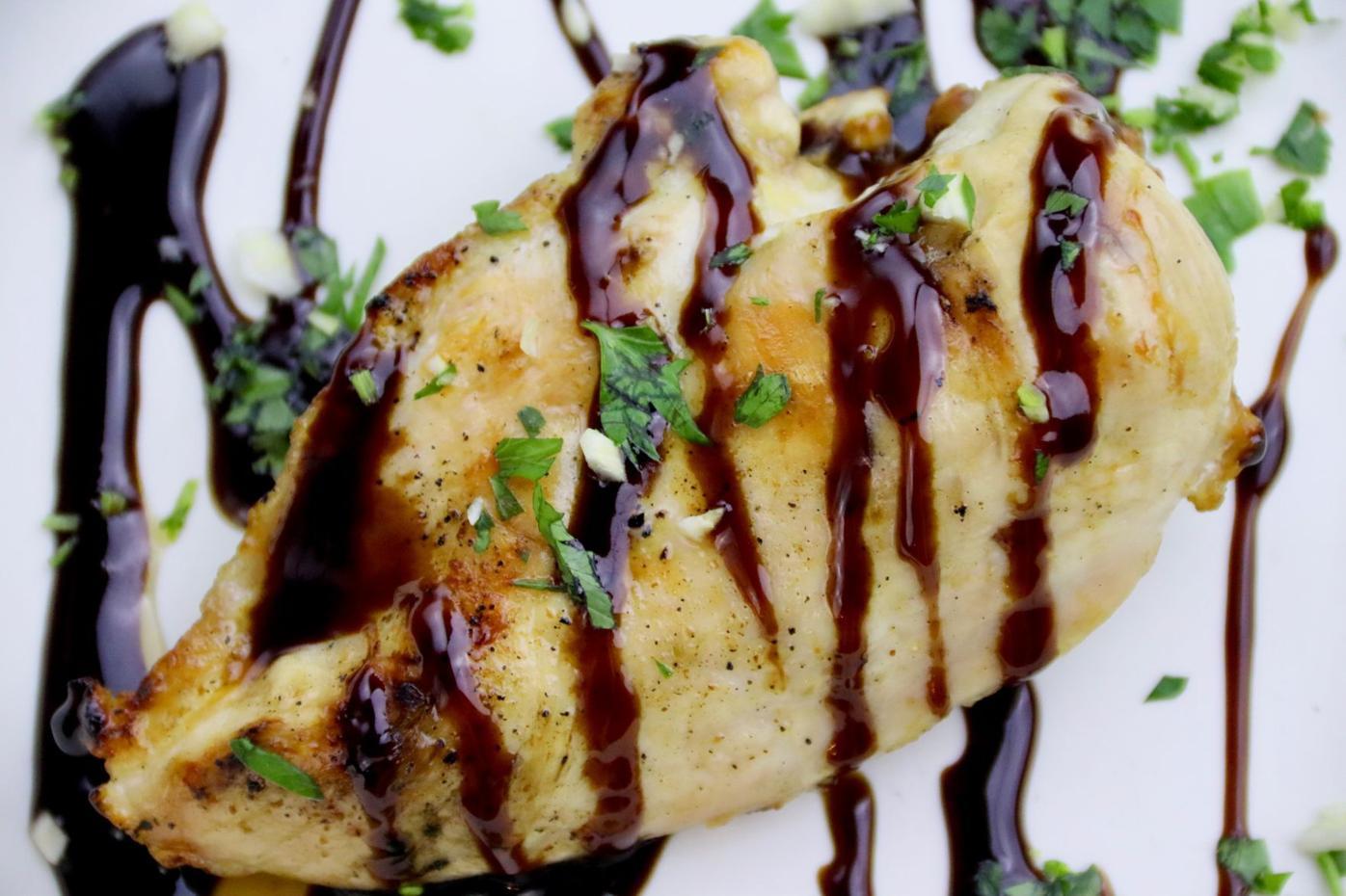 Black Garlic & Balsamic Glazed Chicken
